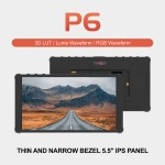 """Portkeys P6 5.5"""" 4K HDMI Monitor with 3D LUT and Waveform"""